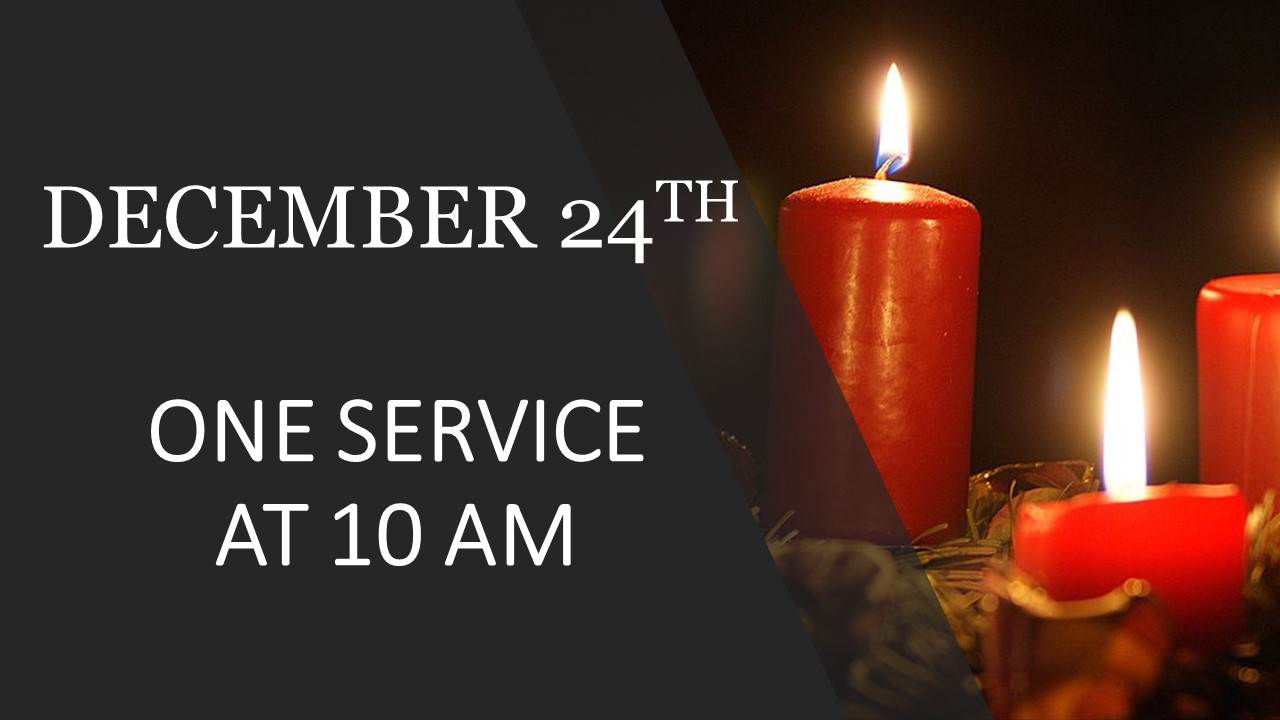 ONE SERVICE AT 10 AM